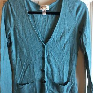 Talbots Blue Button Sweater